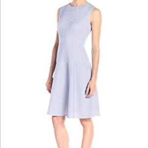 Tommy Hilfiger Blue & White Textured Knit Dress